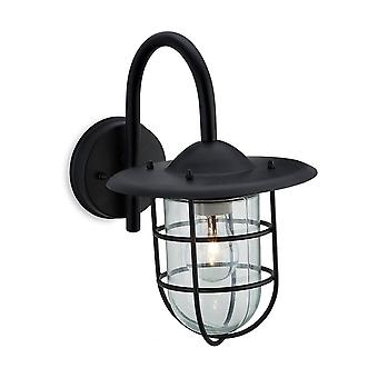 Firstlight Staid Modern Black Outdoor Garden Wall Light