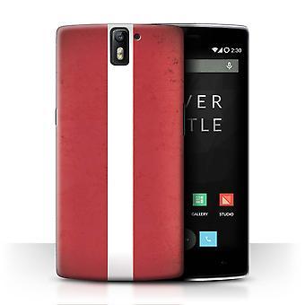 STUFF4 Case/Cover for OnePlus One/Latvia/Latvian/European Flag