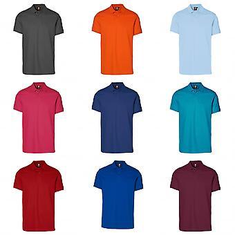 ID Mens Short Sleeve Pique Stretch Polo-Shirt