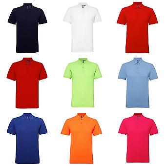 Asquith & Fox Mens Short Sleeve Performance mélangent Polo Shirt
