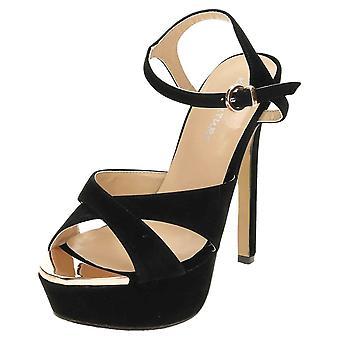 Koi Footwear Stiletto Platform Crossover Open Toe Shoes Slingback High Heel