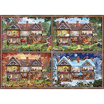 Schmidt hus av fyra säsonger pussel (2000 bitar)