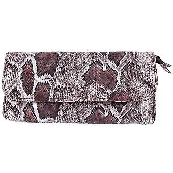 Ladies Mele Pewter Snake Effect Leatherette Jewellery Travel Purse 673