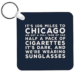 Blues Brothers Sunglasses Quote Keyring