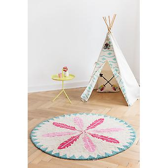 Round carpet baby girl Indians diameter 150cm