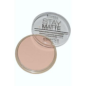 Rimmel London Stay Matte Pressed Powder 14g Silky Beige (#005)