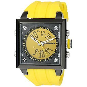 CEPHEUS CP900-albatross hu16c seaplane-men's wristwatch, silicone, color: yellow