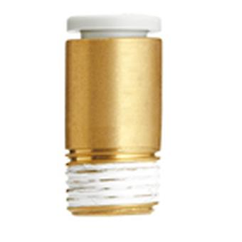 SMC Pneumatic Straight Threaded-To-Tube Adapter, R 3/8 Male, Push In 10 Mm