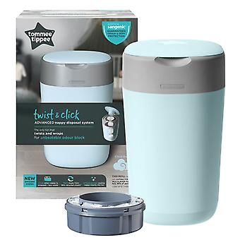 Tommee Tippee Twist et Click Nappy Disposal Tub Cloud Blue