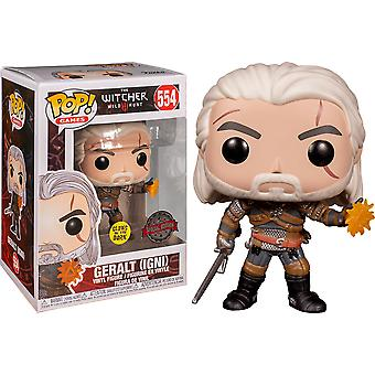 The Witcher 3 Wild Hunt Geralt Glow US Excl Pop! Vinyl