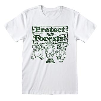 Star Wars Ewoks Protect Our Forests Men's T-Shirt | Official Merchandise