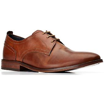 Basis Londen Mens Hammond Burnished Lace Up Shoe Tan