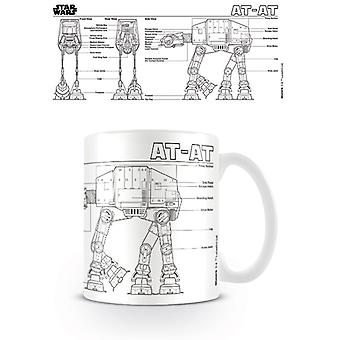 Star Wars AT-AT Skizze Becher