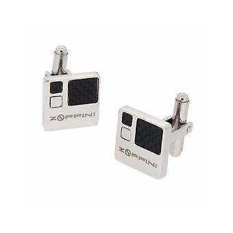 ZOPPINI Stainless Steel Carbon Cufflinks