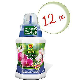Sparset: 12 x COMPO orkidea lannoite, 250 ml