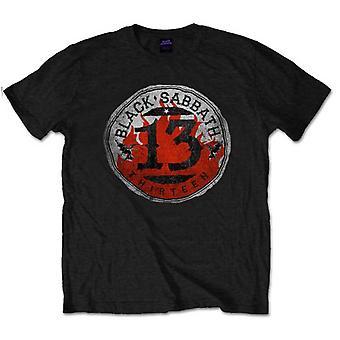 Schwarz Sabbat 13 Flamme Foto offizielle T-Shirt T-Shirt Herren Unisex