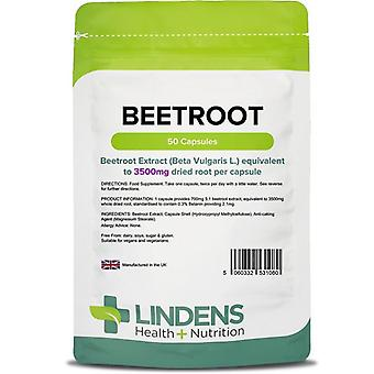Lindens Beetroot 3500mg Capsules 50 (1080)