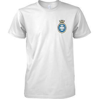 HMS Lindisfarne - ontmanteld Koninklijke Marine schip T-Shirt kleur