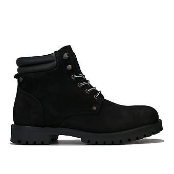 Men's Jack Jones Stoke Nubuck Boots in Black