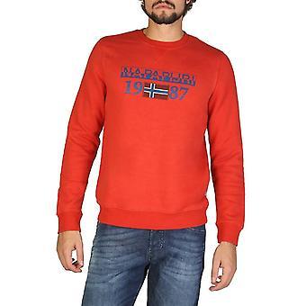 Man cotton long sweatshirt round t-shirt top n52375