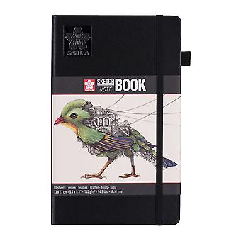 Sakura Sketch Note Book with 80 Sheets 13 x 21 cm