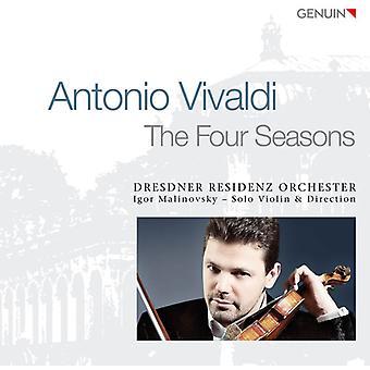 Vivaldi / Dresden Residence Orch / Malinovsky - Four Seasons [CD] USA import