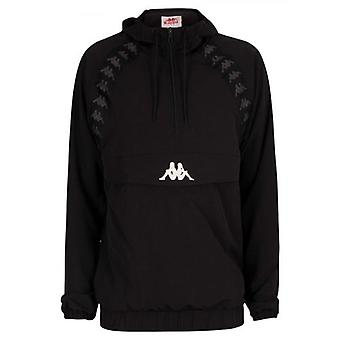 Kappa Black Banda Half Zip Hooded Jacket