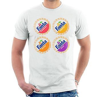 T-shirt dos homens de Fanta retro 1980s bottlecaps