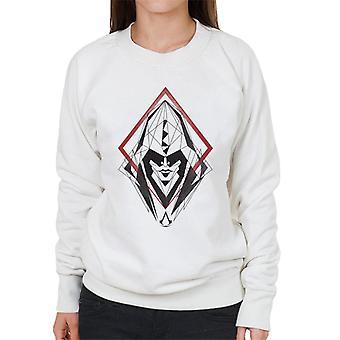 アサシンクリードフードラインドローイングシルエット女性&アポ;sスウェットシャツ