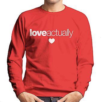 Love Actually Heart Logo Men's Sweatshirt
