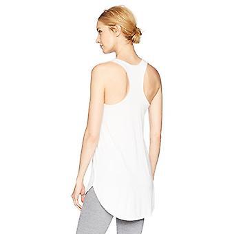 Brand - Mae Women's Loungewear Racerback Tank Top, White, Medium