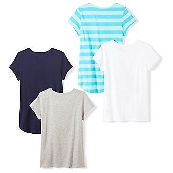 Brand - Spotted Zebra Little Girls' 4-Pack Short-Sleeve T-Shirts, Skat...