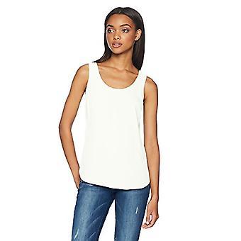 Brand - Daily Ritual Women's Shirt-Tail Scoop-Neck Sleeveless Shell, o...