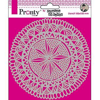 Pronty Crafts Mandala Circle Tribal 6x6 pulgadas plantilla