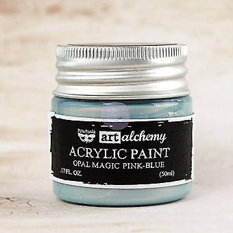 Finnabair Art Alchemy Acrylique Peinture Opale Magic Rose-Bleu
