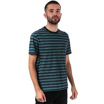 Men's Lacoste Motion Stripped Cotton Pique T-Shirt in Blue
