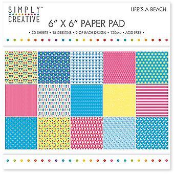 Helt enkelt Creative FSC Paper Pad 6x6 Tums Life & apos, s A Beach