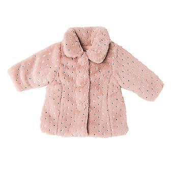 Babybol Girls Winter Coat Silver Stars