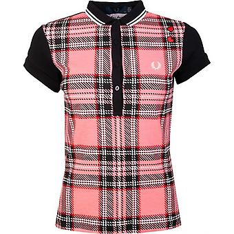 Amy Winehouse Foundation Kontrast Tartan Amy Polo Skjorta