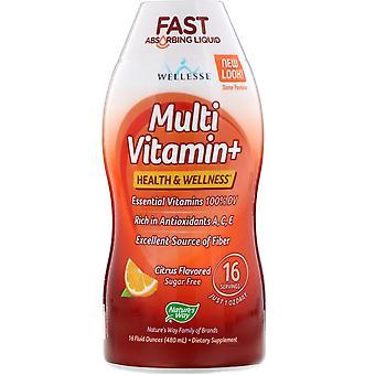 Naturens vei, Multi Vitamin+, Sukkerfri, Sitrus smaksatt, 480 ml