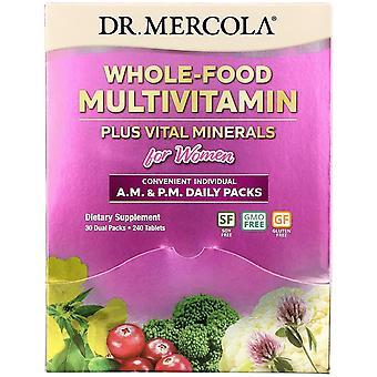 Dr. Mercola, Whole-Food Multivitamin Plus Vital Minerals for Women, A.M. & P.M.