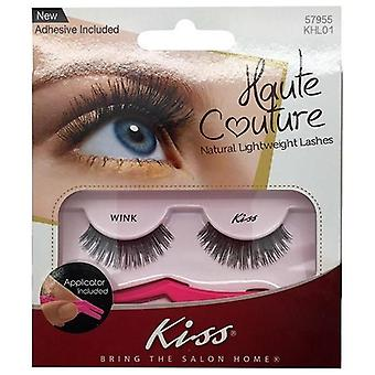 Kiss Haute Couture Natural Lightweight Lashes - Wink - Lash Adhesive Included