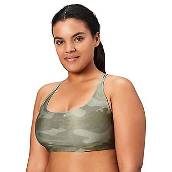 Brand - Core 10 Women's Plus Size Printed Strappy Back Yoga Sports Bra...