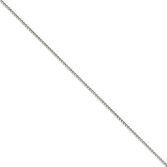 14k White Gold Lobster Claw Closure 2.25mm Solid Spiga Chain Anklet 9 Inch Lobster Claw Jewelry Gifts for Women