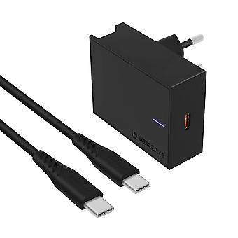25W Super Fast Charging USB-C Wandlader en 3A USB-C kabel Swissten Zwart