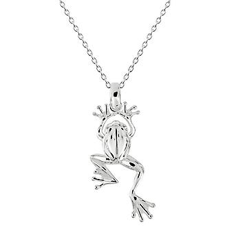 Dew Sterling Silver Leaping Frog hänge 9760HP028