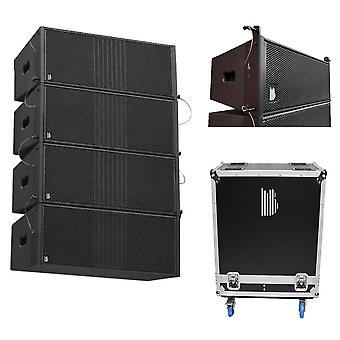 Line array set delta dual 8 passive array 4 box set - including flight case
