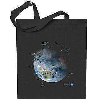 NASA:n satelliitin kiertoradan polut Totebag