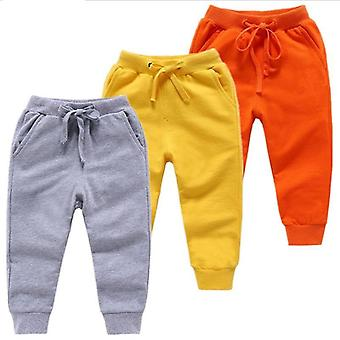 Cotton Jogging Pants For Old Solid Boys Girls
