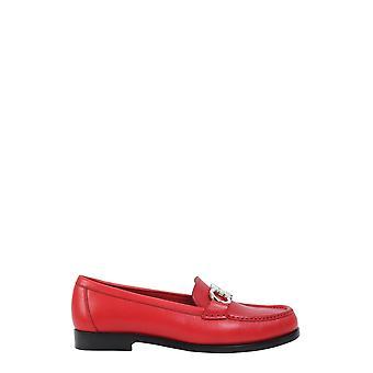 Salvatore Ferragamo 01n660693741 Women's Red Leather Loafers